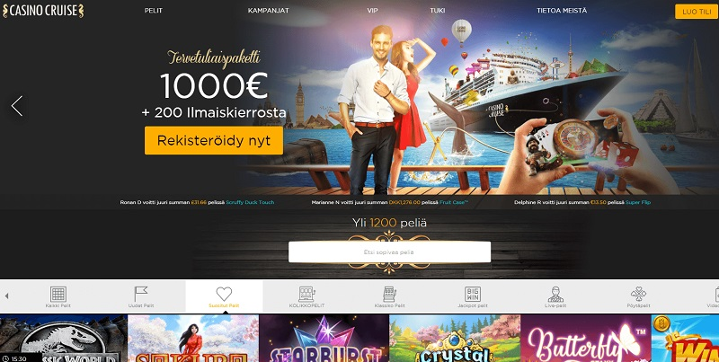 CasinoCruise nettikasino