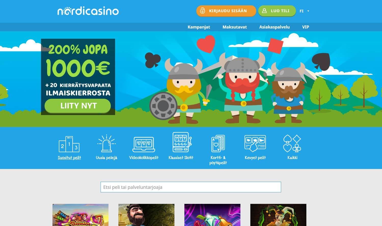 NordiCasino on huippuhauska netti casino jossa on hienot bonukset